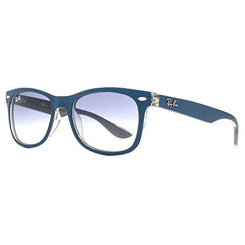 Ray-Ban Junior Wayfarer Sunglasses in Matte Turquoise on Grey RJ9052S 703419 48