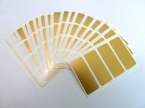 Minilabel - 80 x etichette autoadesive rettangolari colorate, 50 x 20 mm, oro opaco