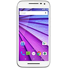 "Motorola Moto G (3ª Generación) - Smartphone Android 6 de 5"" (4G, cámara de 13 MP, 16 GB, Quad Core 1.4 GHz, 2 GB de RAM), color blanco"