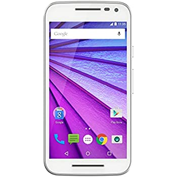 """Motorola Moto G 4G 3 Generazione Smartphone, Display 5"""", LTE, Fotocamera 13 MP, Memoria 8 GB, Android 5 Lollipop, Bianco [Italia]"""