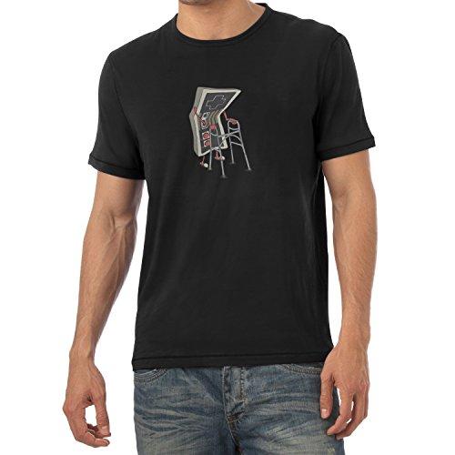 TEXLAB - Old Controller - Herren T-Shirt, Größe M, schwarz (Drive Jacke Kostüm)