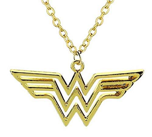 Neue Kostüm Superman - Lovelegis Kette für Frauen - Damen Halskette - Superhelden - Kino - Wonder Woman - Farbig - Groß - Verschleiern - Goldene Farbe
