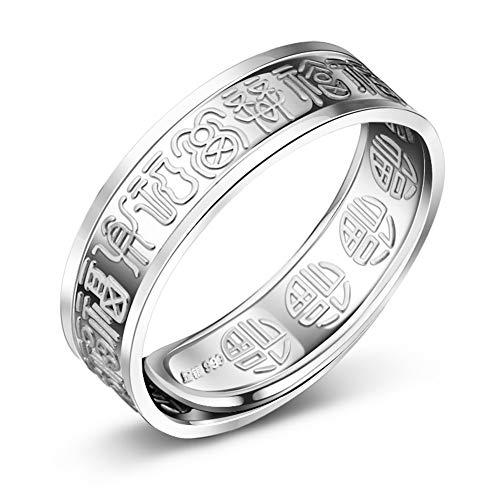 99 Feinsilber Das Wort Segen Öffnung Ringe Herren Fashion Persönlichkeit Ring Größe Kann Angepasst Werden,