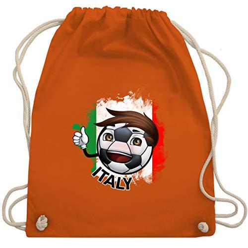 Fußball - Fußballjunge Italien - Unisize - Orange - WM110 - Turnbeutel & Gym Bag