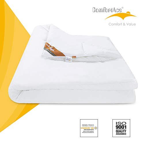 ComfortAce Belfast 200x200 cm Bettdecke Bauwolle Bezug antiallergisch für Allergiker,Hochwertiger Microfaser aus 100{303ff738ad9cacc5ed966417ca2d876359473ed59504621f0d0404d0e727025f} Polyester,Soft-Komfort Bettdecken aus Hohl-Faser Waschbar,Weiß MEHRWEG