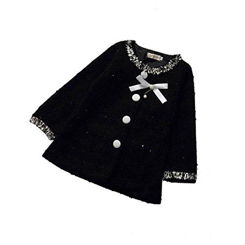 MORESAVE Bambino manica lunga bimbi una giacca Autunno Bowknot Principessa