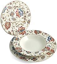 Churchill Earthenware Jacobean Servizio Tavola 18 Pezzi, Decorato, Stoneware, Assortito, 27x20x27 cm