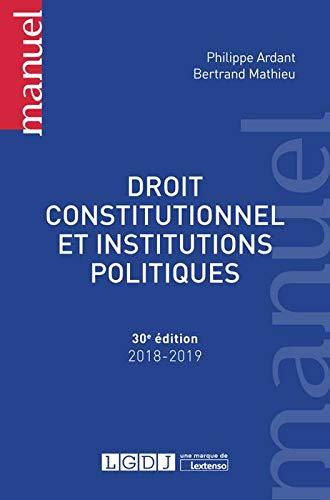Droit constitutionnel et institutions politiques