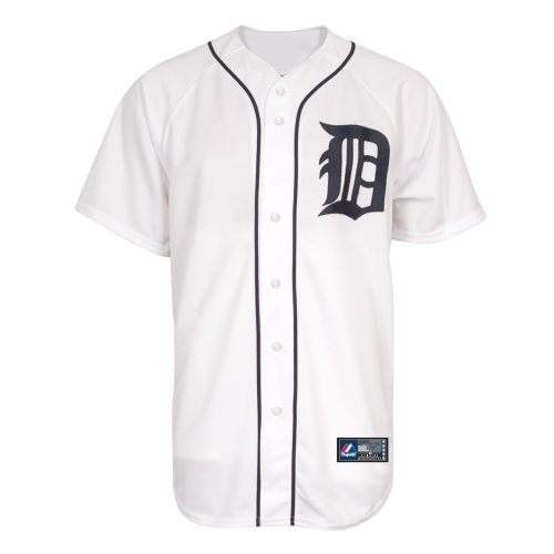 MLB Detroit Tigers Home Replica Jersey, Weiß S weiß (Detroit Tigers)