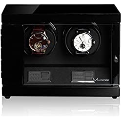 Luxwinder Uhrenbeweger Flint LV2 für 2 Uhren by Modalo 6202112 schwarz