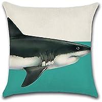 DaoRier Hai Baumwolle Leinen Drucken Kissen Kissenbezüge Mit Reißverschluss  Sofakissen Kopfkissenbezug Bettkissenbezug