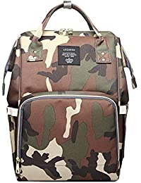 5f7d1e80bc Yourig Waterproof Mummy Diaper Bags Camo Print Backpack Large Capacity Baby  Care