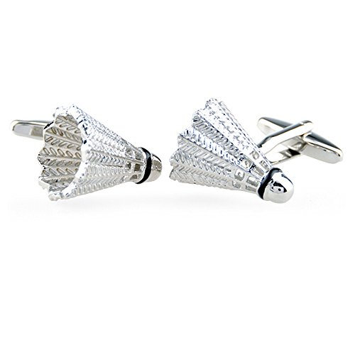 Honey Bear Shuttlecock / badminton Cufflinks Mens Wedding Shirt Suit Gift Cuff Links