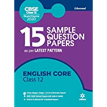 15 Sample Question Papers English Core Class 12th CBSE 2019-2020