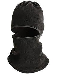 QHGstore Versátil a prueba de viento multi paño grueso y suave de la cara de la máscara protectora CS escudo facial negro