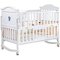 Babybett Babybett Massivholz Kinderbett Bett Multifunktions Kinderbett Bett Spleißen (Farbe : Weiß) preisvergleich bei kleinkindspielzeugpreise.eu