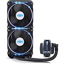 EMPIRE GAMING - Kit Watercooling AlO Gamer Empire Cooler 240 - Refroidissement Liquide - Ventilateur 120 mm x 2 PWN - CPU Intel et AMD - Compatible PC Gamer