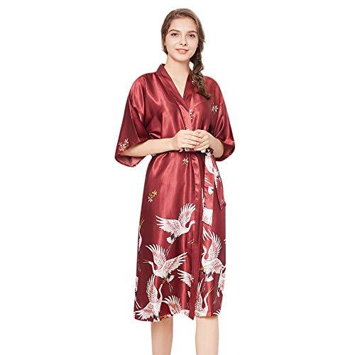 Beikoard Sexy Dessous,Frauen Dessous Damen Robe Tuch Babydoll Nachthemd Nachtwäsche Kimono Herbst und Winter Seidenkleid