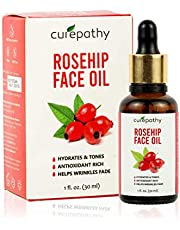 Curepathy Rosehip Face Oil (30 ML) Anti Wrinkle, Anti Aging, Enriched with Vitamin E,Carrot Seed, Sunflower, Jojoba, Olive & Grape Seed Oil, 30 ML
