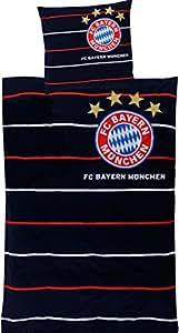 FC Bayern München Parure de lit à rayures pour supporter du FC Bayern