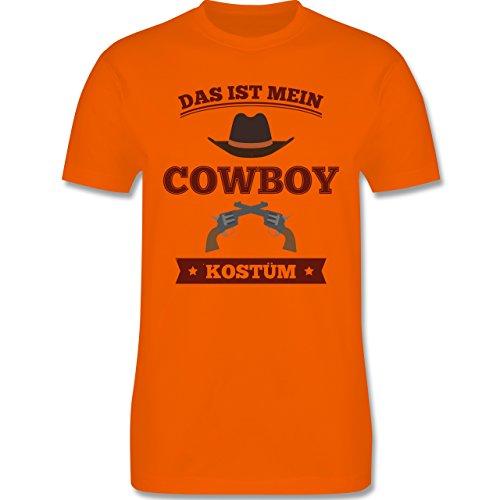 Karneval & Fasching - Das ist mein Cowboy Kostüm - Herren Premium T-Shirt Orange
