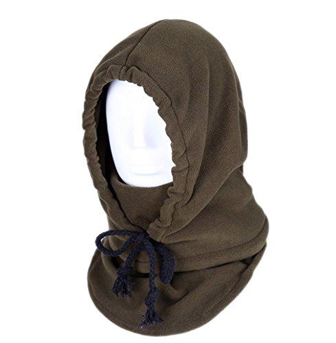 ACVIP Adulte Homme Femme Chapeau Anti Vent Masque Visage Cagoule Chaud Oreille Protection, 10 Couleurs Café