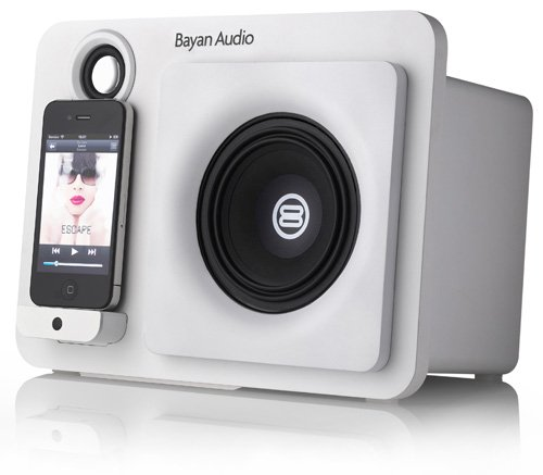 Bayan Audio 20000 - Docking-Lautsprecher (1.1 Kanäle, 25 W, 10 cm, 40-18000 Hz, 3,5 mm, iPhone,iPod) - 55 Wh Apple