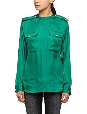 Replay Women's Women's Light Emerald Green Shirt 100% Polyester