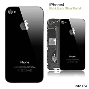 R.I's Iphone 4 Back Glass Plate Or Panel/Door Black