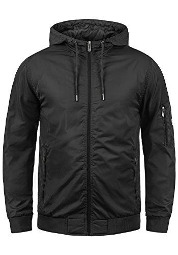 Blend Razy Herren Übergangsjacke Herrenjacke Jacke Mit Kapuze, Größe:L, Farbe:Black (70155) (Kapuzen-jacke)