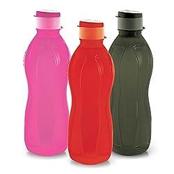 Cello Hydra Flip Polypropylene Bottle Set, 750ml, Set of 3, Assorted