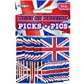 Best of British Union Jack Cupcake Toppers, Pack of 30