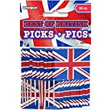 Unique Party  49157  - Best of British Union Jack Cupcake Toppers, Pack of 30