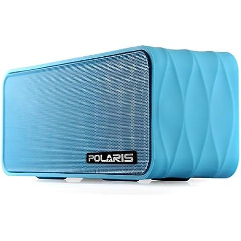 Polaris - Altavoz inalámbrico con radio FM (NFC, AUX Jack, pantalla LED, manos libres, 2000mAh)