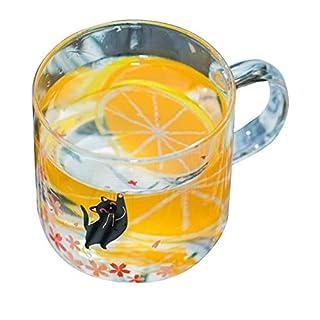 ACEVER Café Glass Coffee Mug Tea Cup Milk Mug Beer Cup | Microwave and Dishwasher Safe | Birthday and Christmas Gift | 12.5 oz Mug (Black Cat)
