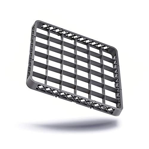 Kerafactum® - Aufsatz Rahmen für Spülkorb Korb Erweiterungselement für Körbe mit 36 Felder Fächer für Gläser für die Gastro Spülmaschine Spülmaschinenkorb aus Kunststoff 50x50 cm erweiterbar - rack extender