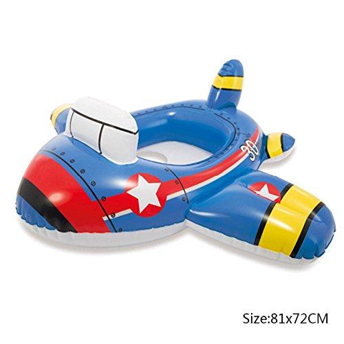 Biback Salvagente Anello di Nuoto, Zattera di galleggiamento gonfiabile sicura per bambini con zattera per il nuoto in piscina per bambini