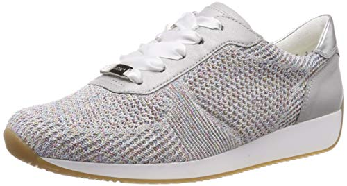 details for cute 2018 shoes ara Lissabon 1224027, Zapatillas para Mujer, Gris (Candy-Weiss,  Sasso/Silber 21), 38 EU