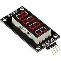 Tablero de Controlador en Serie de Tubo Digital de 7 segmentos TM1637 LED de 4 dígitos de 7 dígitos de TM1637 para Kits de Bricolaje Arduino - Rojo
