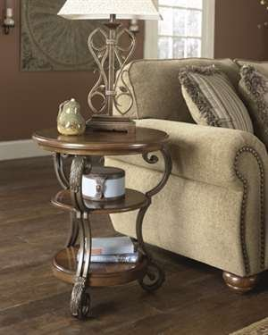 Signature Design by Ashley Traditional Medium Brown Nestor Chair Side End Table by Signature Design by Ashley