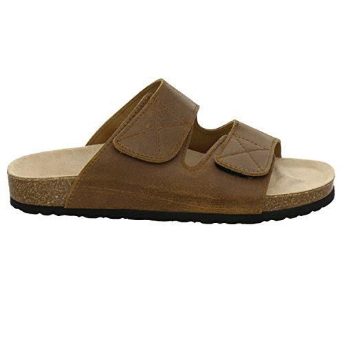 AFS-Schuhe 3108, Pantolette Herren Cognac