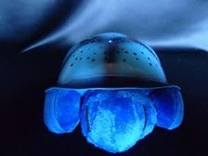 Nachtlicht Schildkröte, Sternenhimmel für Kinder mit Farbwechsel und Musik, Farbe blau