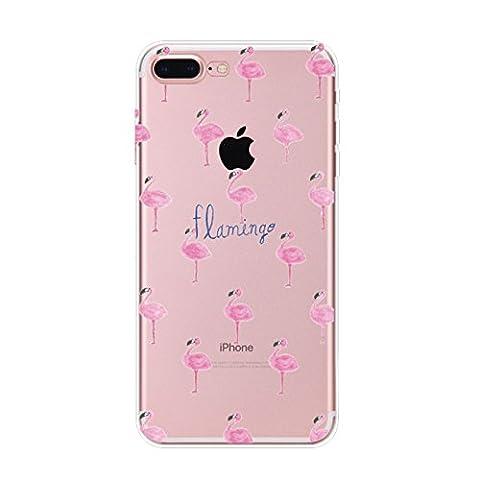 Coque iPhone 7 Plus,Vanki® Housse Transparente , Housse TPU Souple Etui de Protection Silicone Case Soft Gel Cover Anti Rayure Anti Choc pour Iphone7 Plus 5.5 Inch (4)