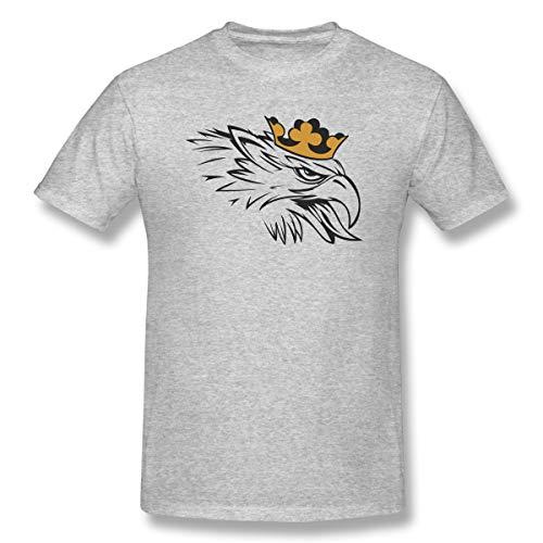 TollyjjdgerA Herren Eagle Crown Fashion Grau Kurzarm Gr. 58, grau (Ärmelloses Eagle)