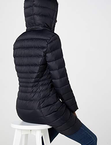 Tommy Jeans Hilfiger Denim Damen Mantel THDW Basic Coat 3, Schwarz (Black Beauty 003/Dark Blue), X-Small - 7