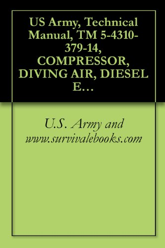 US Army, Technical Manual, TM 5-4310-379-14, COMPRESSOR, DIVING AIR, DIESEL ENGINE DRIVEN 88.5 SCFM, 200 PSI, (MODEL HII-271-5120), (NSN 4310-01-113-8271), ... manauals, special forces (English Edition) (Pc-engine Cd)