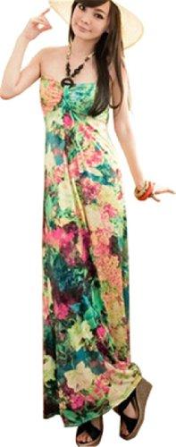 QIYUN–Vestito per donna Multicolore