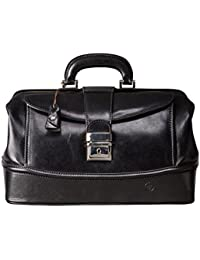 Maxwell Scott® PERSONNALISABLE! Sac Docteur taille Moyenne Cuir Italien (DonniniM)