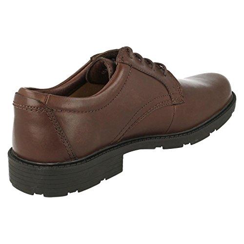 Clarks , Chaussures de ville à lacets pour homme Marron Marron foncé Marron - Marron foncé