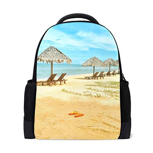 Casual Daypacks Cute College Laptop Reiserucksack Für Frauen \u0026 Männer Strand Stühle Hütte